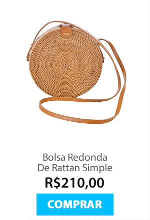 Bolsa Redonda De Rattan Simple