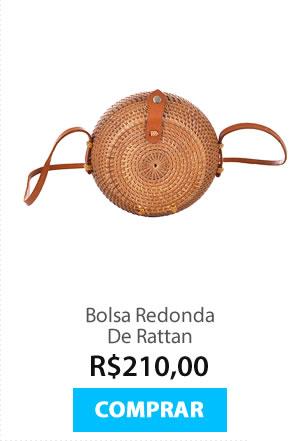 Bolsa Redonda De Rattan
